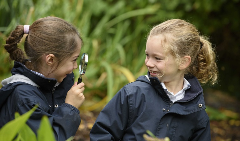 Prep School outdoors magnifying glass