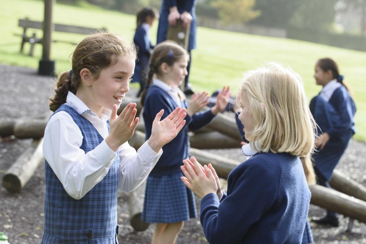 Prep School girls games outside